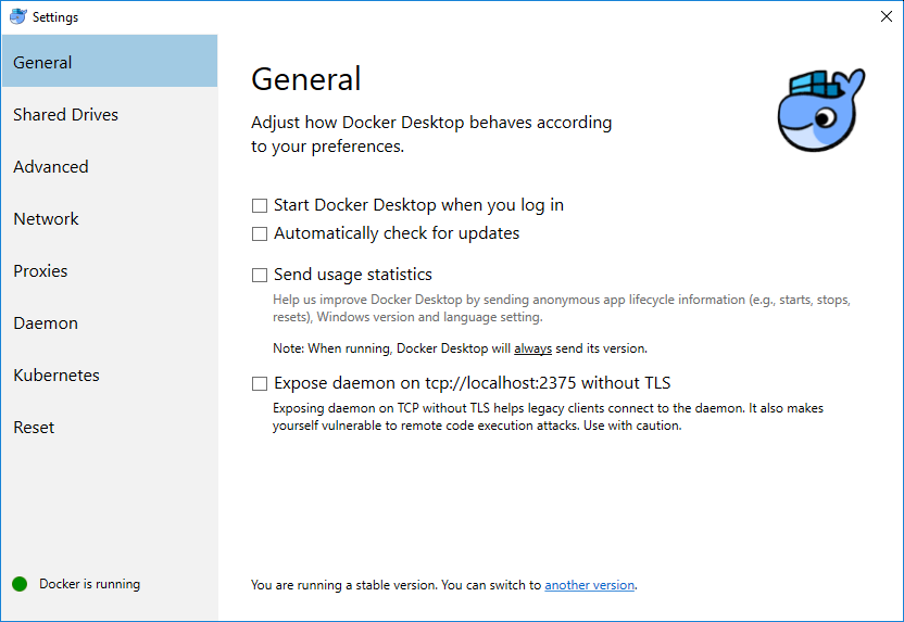 Docker-Settings